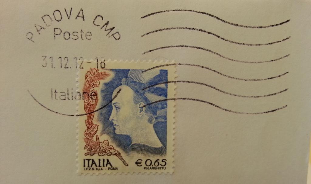 P.N.Arghittu francobollo Italia euro 0,65