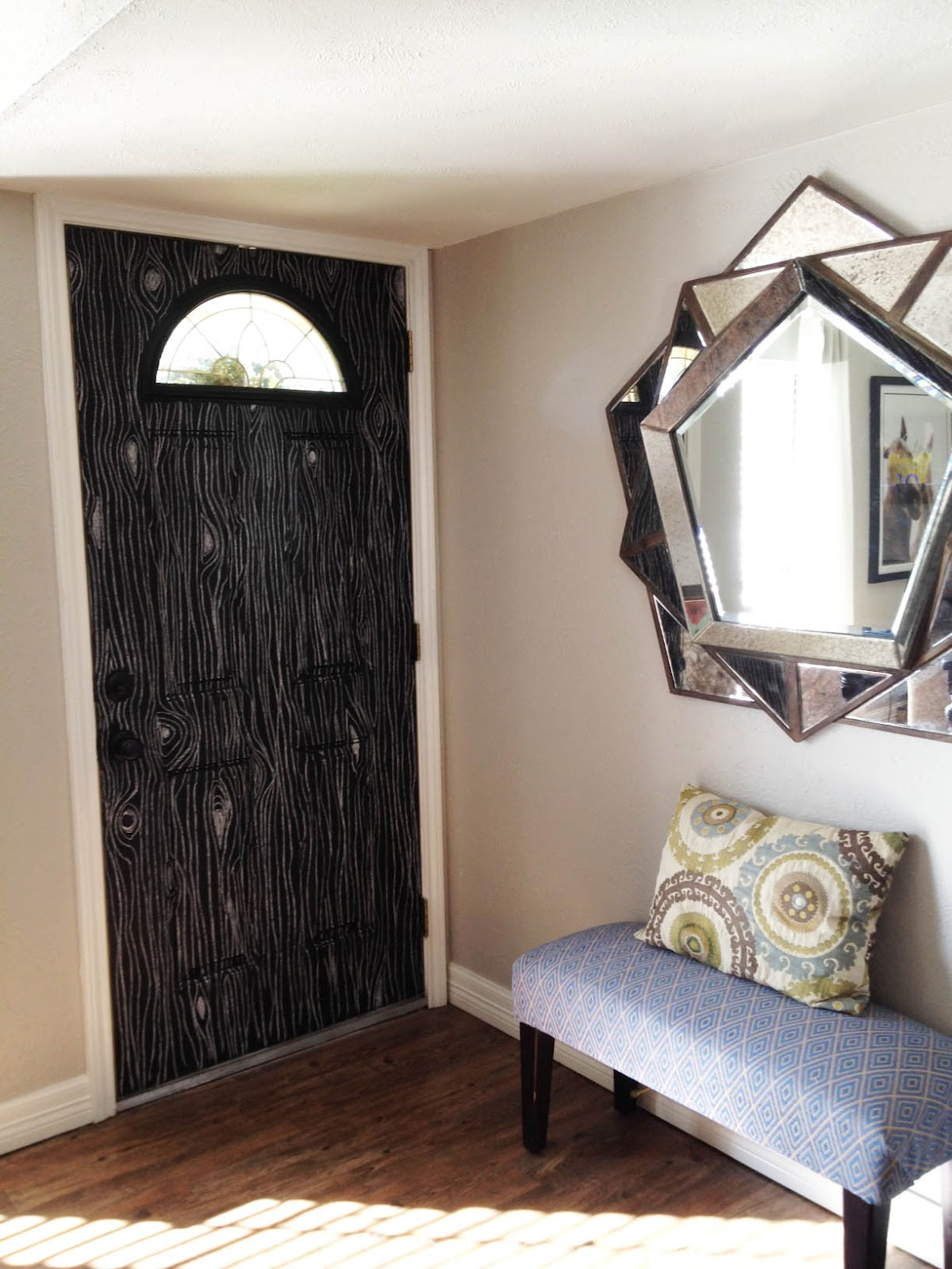 Faux Bois Chalkboard Door & The Happy Homebodies: Faux Bois Chalkboard Door