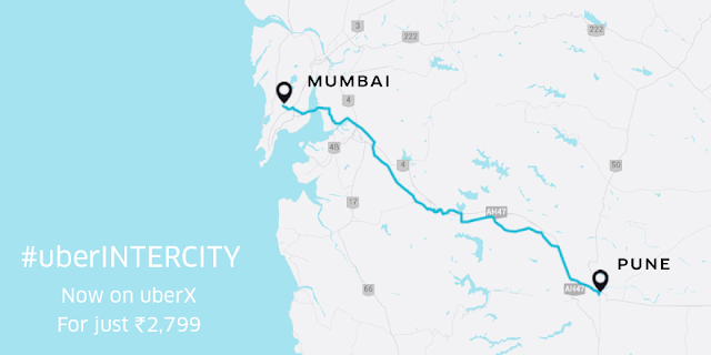 From Pune book an uberX to anywhere in Mumbai for just ₹2,799.