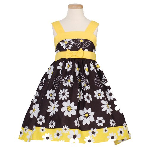 yellow short juniors dress with flower