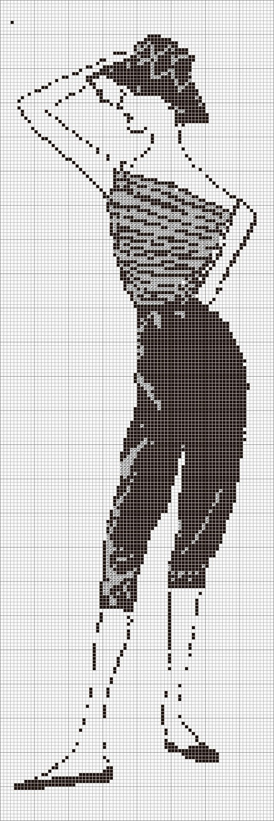 cross stitch  fashion sketch chart