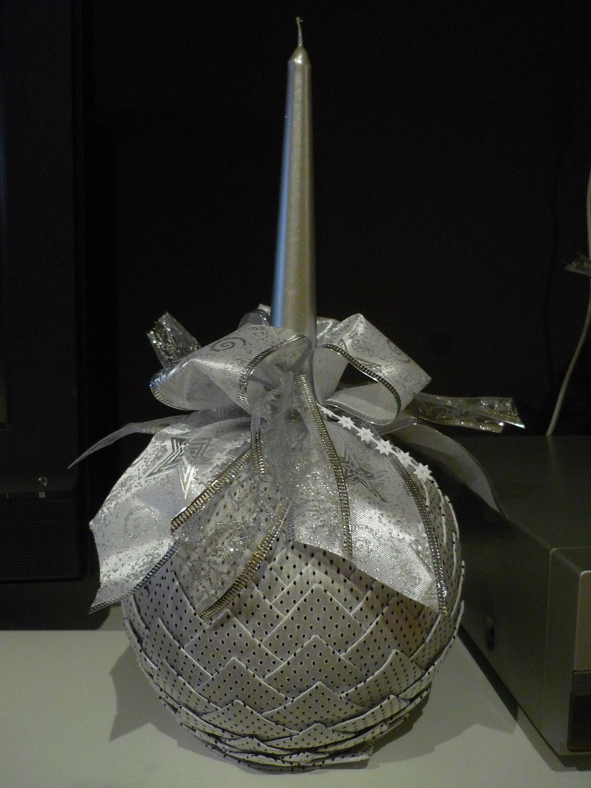 El rinc n de kamalu bolas grandes con vela para navidad - Bolas de navidad grandes ...