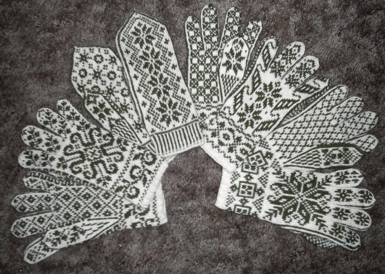 схема вязания варежки норвежский узор