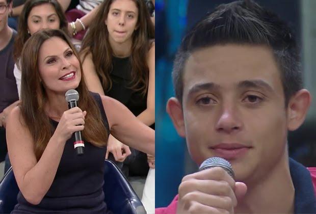 """Laura Muller é pedida em namoro por adolescente no """"Altas Horas"""""""