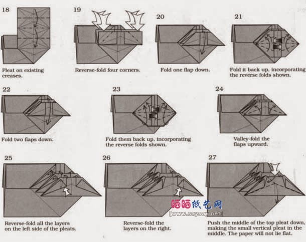 How to make a paper origami crab