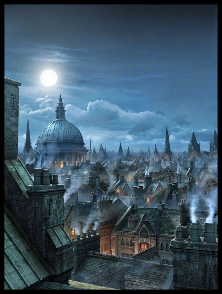 02-London-Rooftops-Raphael-Lacoste-Matte-Paintings-and-Concept-Worlds