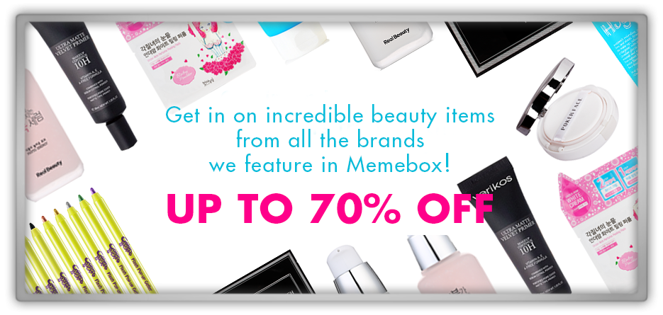 memebox 미미박스 Commercial verikos realbeauty rire tosowoong awesome cosmetics skincare sale makeup discount