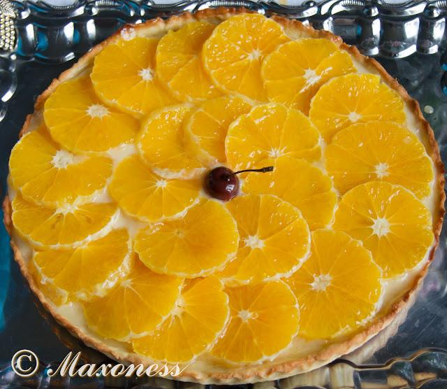 Апельсиновый торт. Французская кухня.
