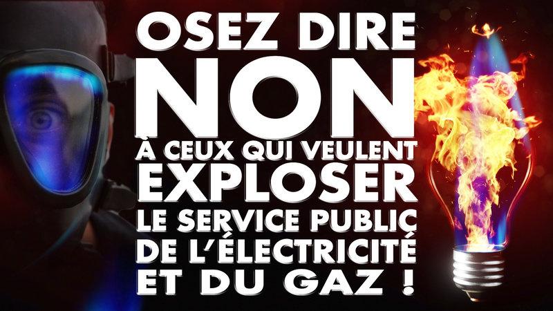 OUI au service public de l'électricité et du gaz !