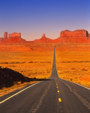 route dans un désert