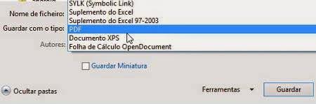 Como converter planilha Excel para PDF