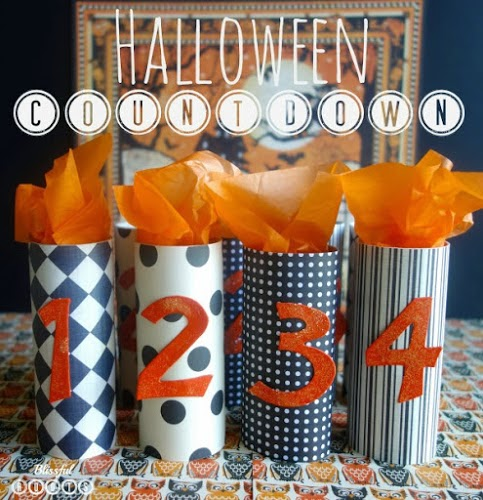 DIY Recycled Halloween Advent Countdown