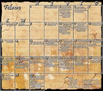 Calendario del Costal (Febrero)