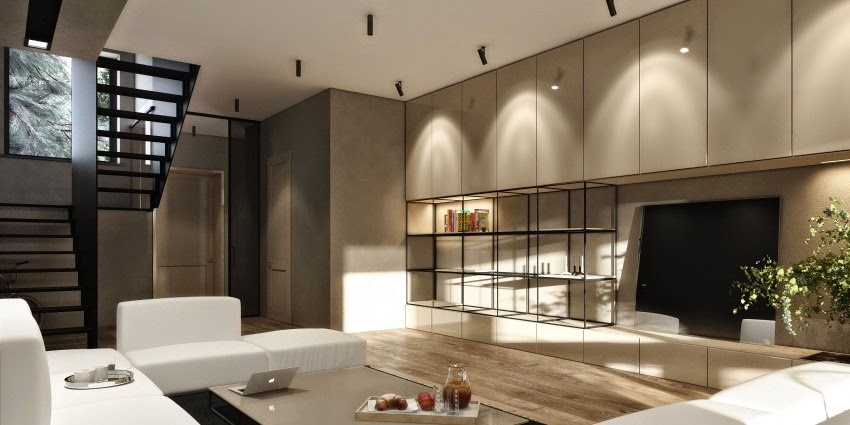 Dise o interior townhouse by igor sirotov architect for Decoracion de interiores apartamentos modernos