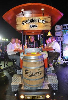 Oktoberfest 2014 Malaysia Carlsberg Saujana bier  bike