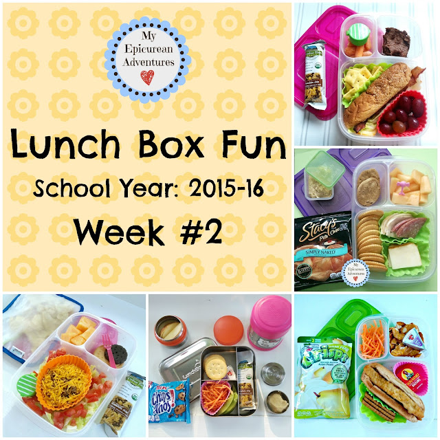 My Epicurean Adventures: Lunch Box Fun 2015-16: Week #2. Lunch box ideas, school lunch ideas, lunches