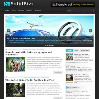 SolidBizz blog template. patter background blogger template. magazine style template blogspot. free blogspot template