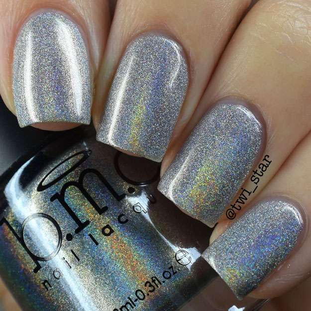 Bundle Monster Holographic Polish Buy Me Diamonds Silver Holo Swatch