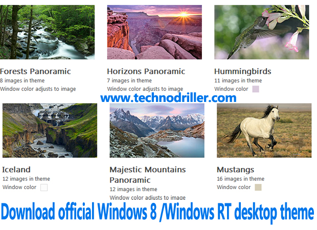 Download Windows 8 /Windows RT themepack