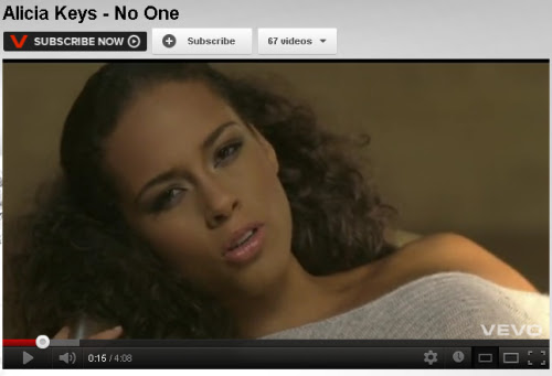 THE MOST POPULAR &... Alicia Keys No One
