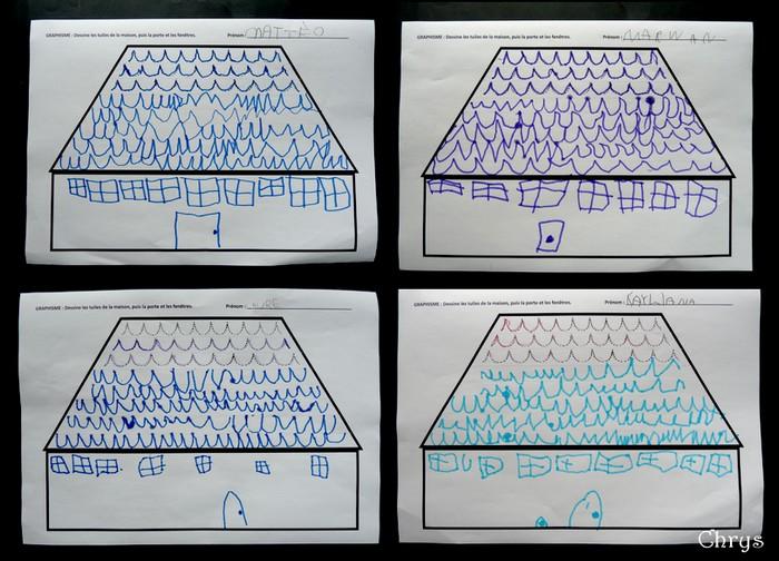 Le journal de chrys mon projet maison en maternelle for Toit de maison dessin