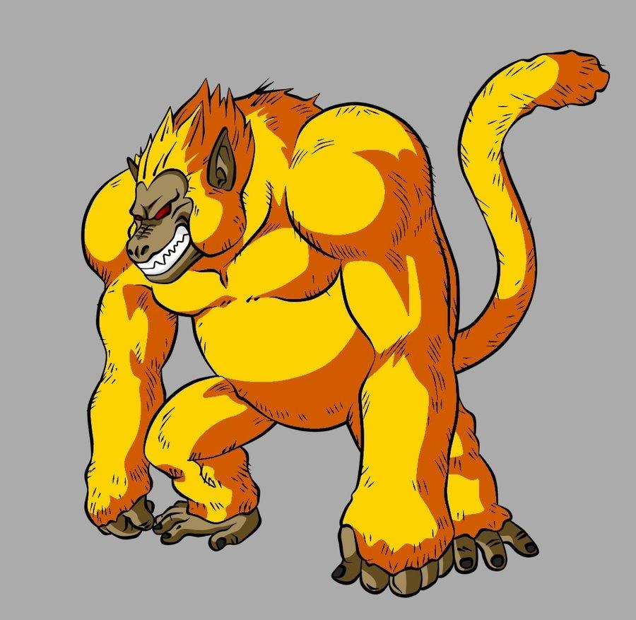 Resultado de imagen para super saiyajin simio