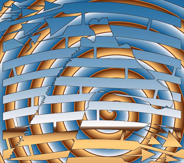 maze of giraffe op art