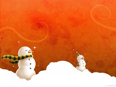 Snowman 3D Wallpaper