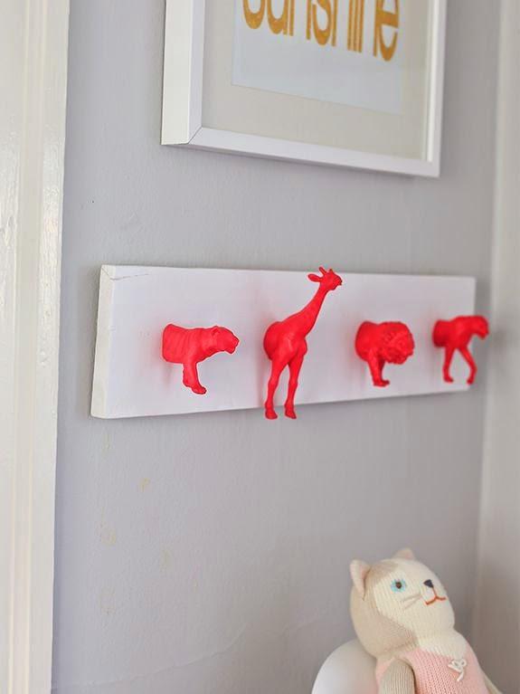 Decora el cuarto de los niños a partir de figuras de animales. ¡Fantásticas ideas!