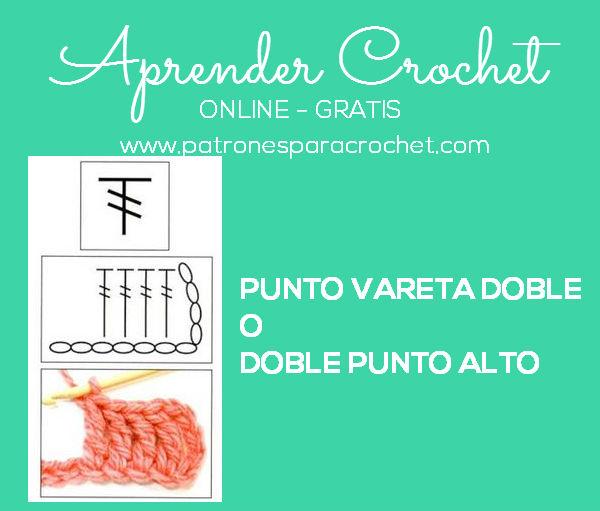 como tejer a crochet el punto doble vareta o doble punto alto