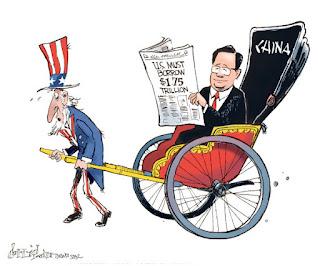 la proxima guerra deuda estados unidos 5,3 billones china caricatura
