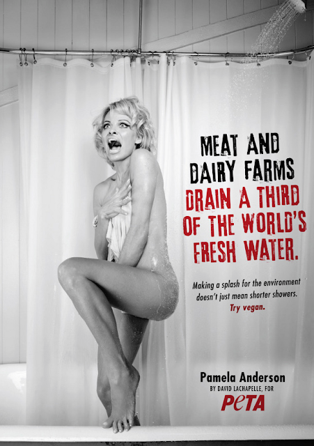 Pamela Anderson gets naked for PETA again.