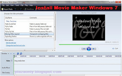 Cara Install Movie Maker Windows 7