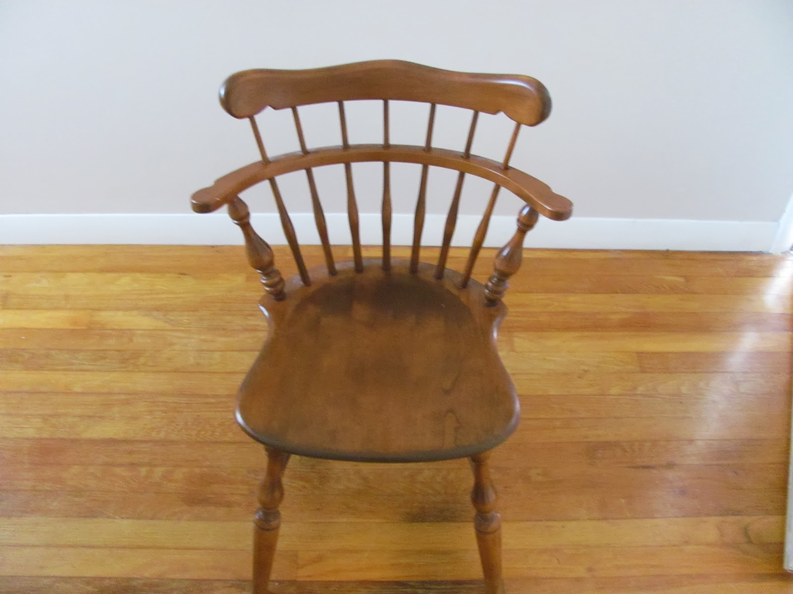 Chair from Ethan Allen dining set before being sold on Craigslist