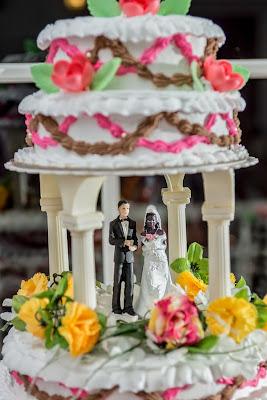 mariage en Guadeloupe, le gâteau des mariés