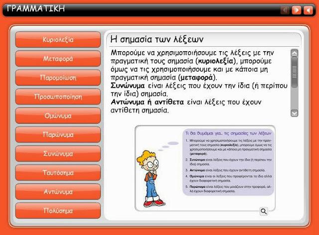 http://users.sch.gr/theoarvani/mathimata/diafora/grammatiki/9/engage.html
