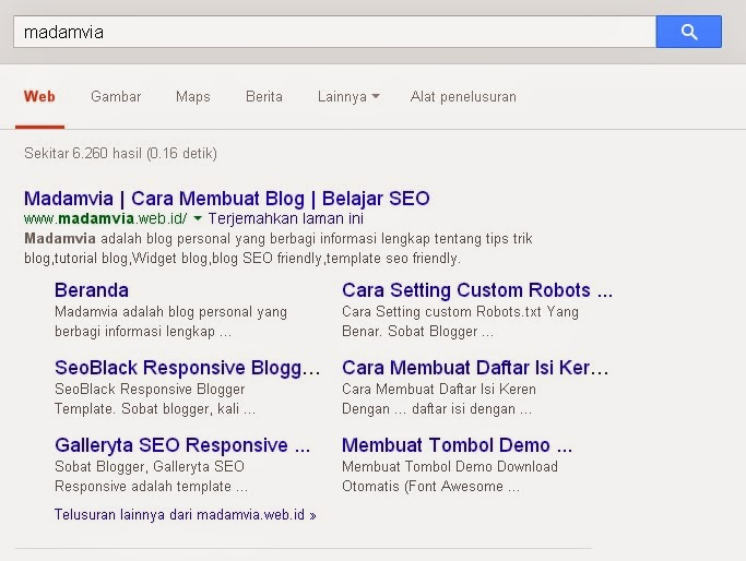 Cara Mendapatkan Sitelink Google Dengan Mudah