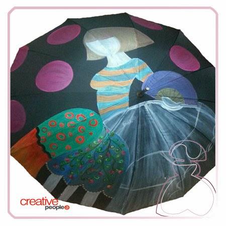 Pintar un paraguas a mano por Sylvia Lopez Morant, segmentación
