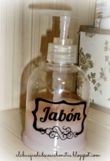 Etiqueta para dispensador de jabón