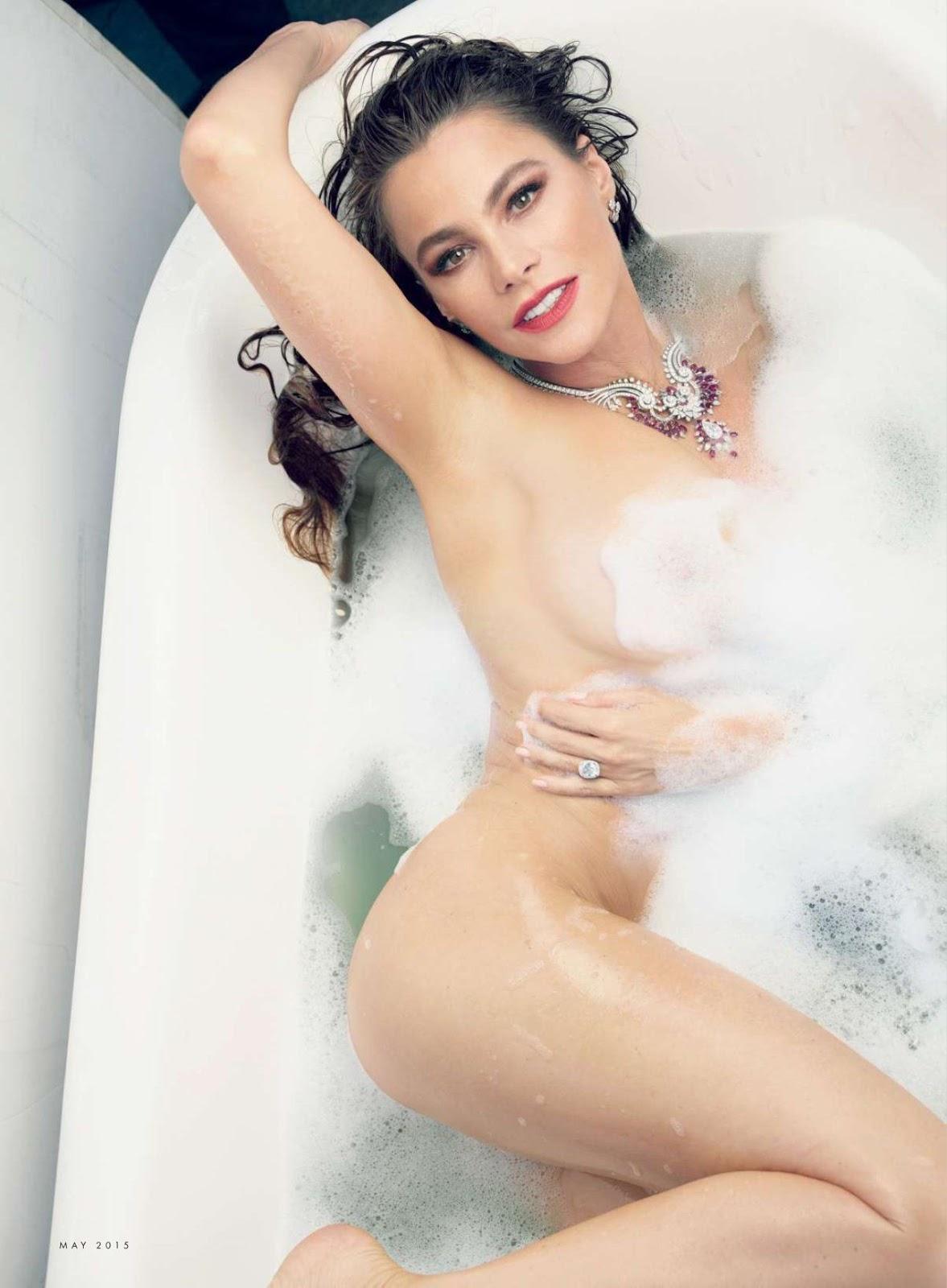 Sofia Vergara bares cleavage for Vanity Fair May 2015