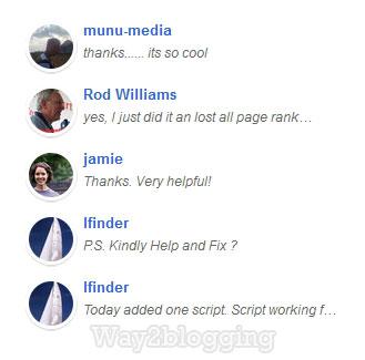 Gadget Últimos Comentarios en Blogger con Avatar