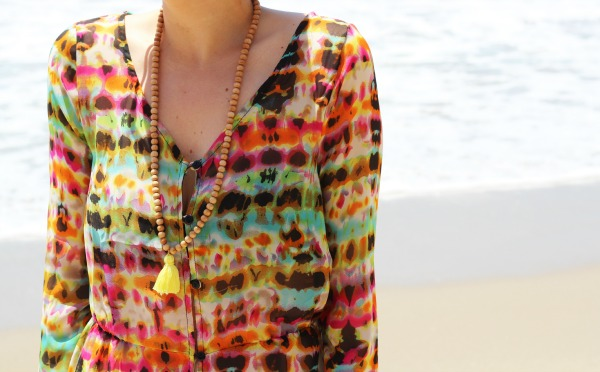 beach cover up multi colour