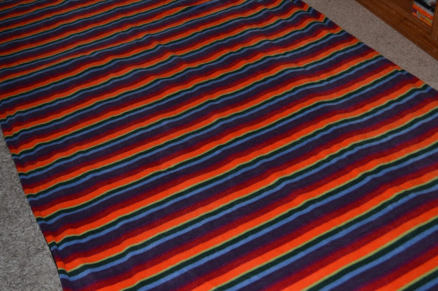 Warm Stripe Fleece Rug