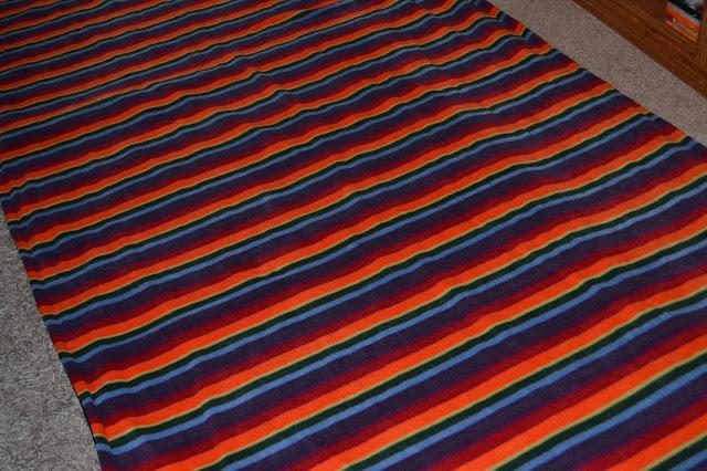 Warm Stripe Fleece Rug