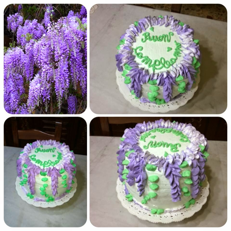 Louisa's version of this sweet Wysteria cake is so pretty. I just love ...