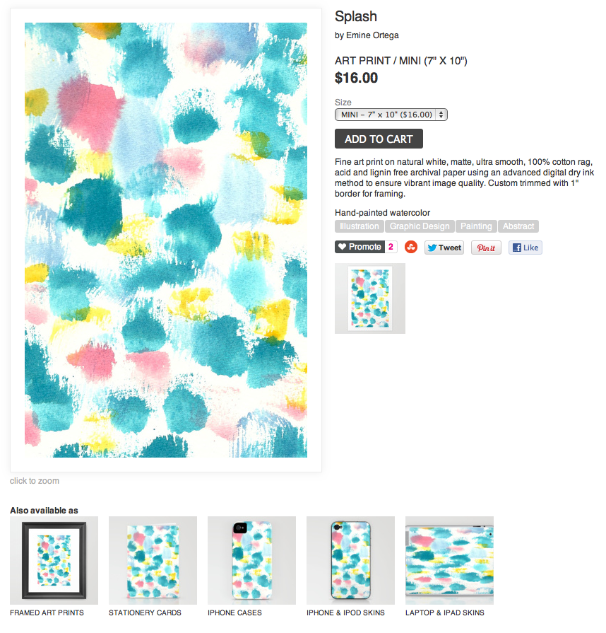 New products available in my society6 shop emine ortega for Society 6 promo code