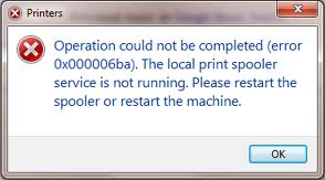 Fixing The Print Spooler Service Is Not Running Error