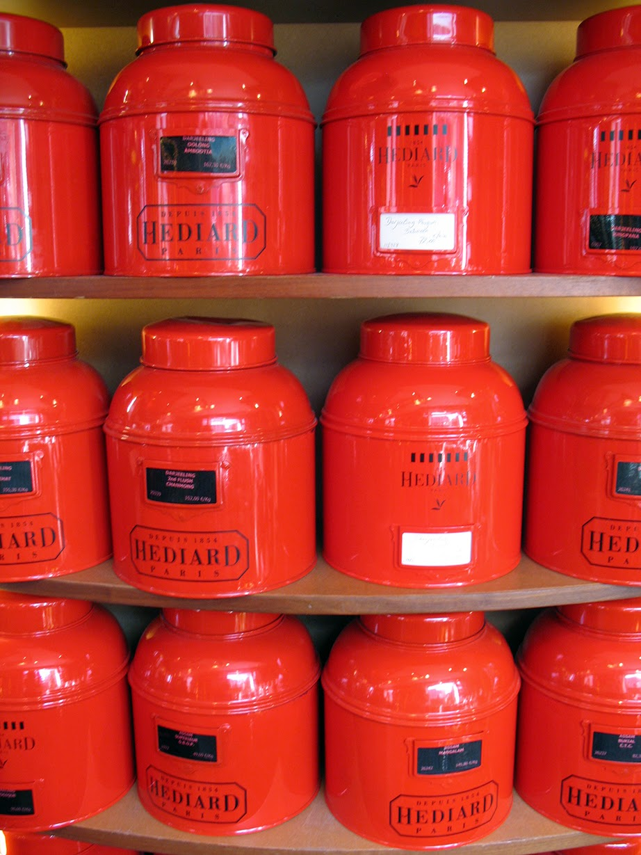 tins of coffee and tea at Hédiard, Paris