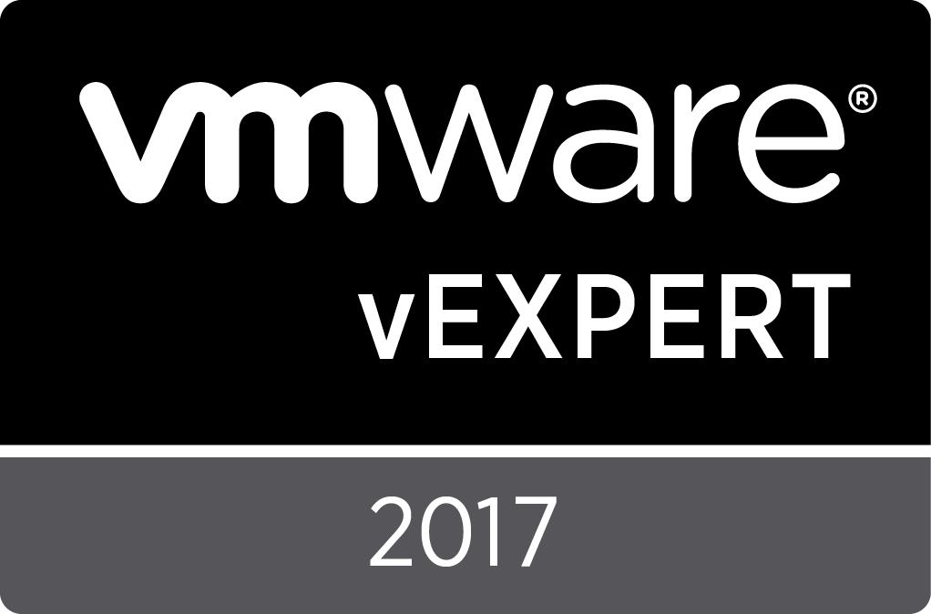 vExpert Award 2017