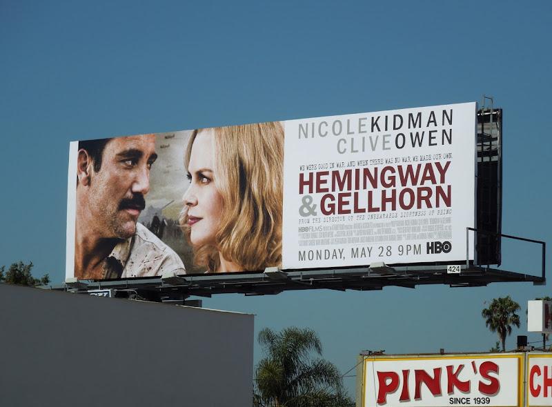 Hemingway Gellhorn HBO billboard